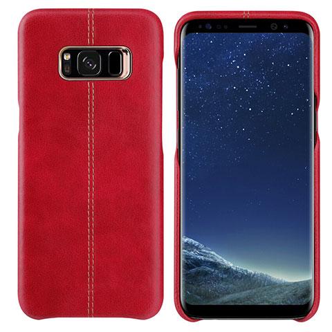 Handyhülle Hülle Luxus Leder Schutzhülle L01 für Samsung Galaxy S8 Rot