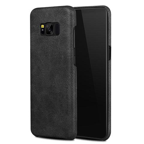 Handyhülle Hülle Luxus Leder Schutzhülle L02 für Samsung Galaxy S8 Schwarz