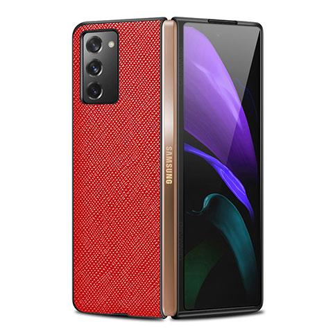 Handyhülle Hülle Luxus Leder Schutzhülle S01 für Samsung Galaxy Z Fold2 5G Rot