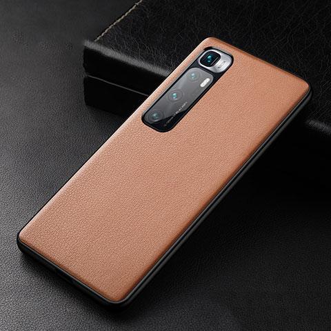 Handyhülle Hülle Luxus Leder Schutzhülle S01 für Xiaomi Mi 10 Ultra Braun