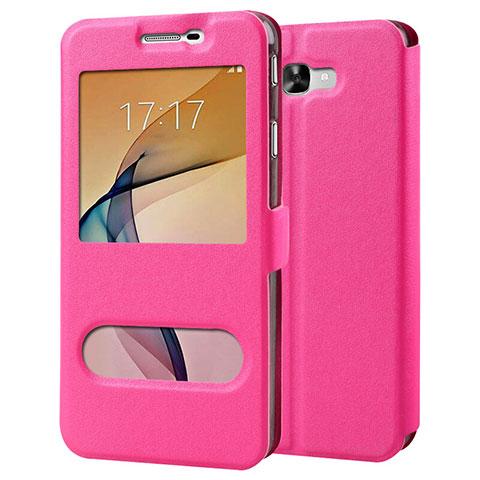Handyhülle Hülle Stand Tasche Leder für Samsung Galaxy J7 Prime Pink