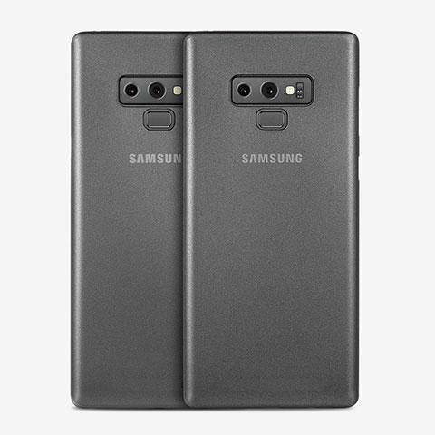 Handyhülle Hülle Ultra Dünn Schutzhülle Durchsichtig Transparent Matt T01 für Samsung Galaxy Note 9 Grau