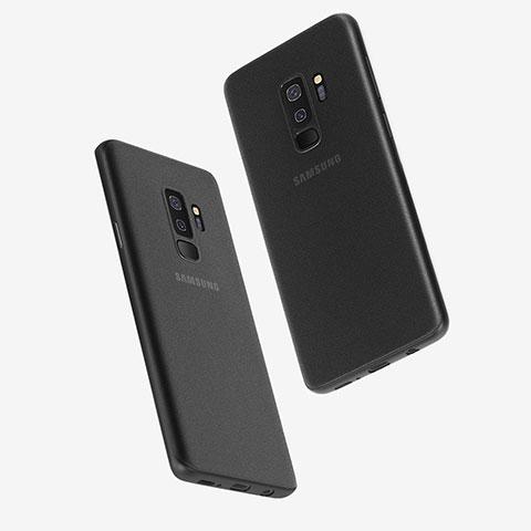 Handyhülle Hülle Ultra Dünn Schutzhülle Durchsichtig Transparent Matt T01 für Samsung Galaxy S9 Plus Schwarz