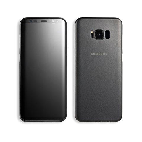 Handyhülle Hülle Ultra Dünn Schutzhülle Durchsichtig Transparent Matt T02 für Samsung Galaxy S8 Schwarz