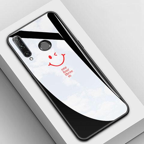 Handyhülle Silikon Hülle Rahmen Schutzhülle Spiegel Modisch Muster für Huawei Honor 20 Lite Schwarz