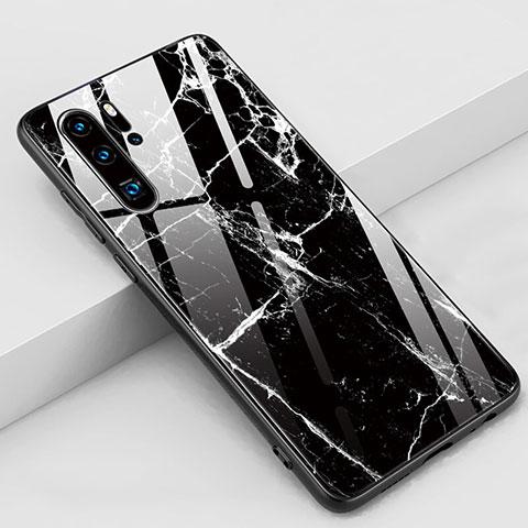 Handyhülle Silikon Hülle Rahmen Schutzhülle Spiegel Modisch Muster K03 für Huawei P30 Pro Schwarz