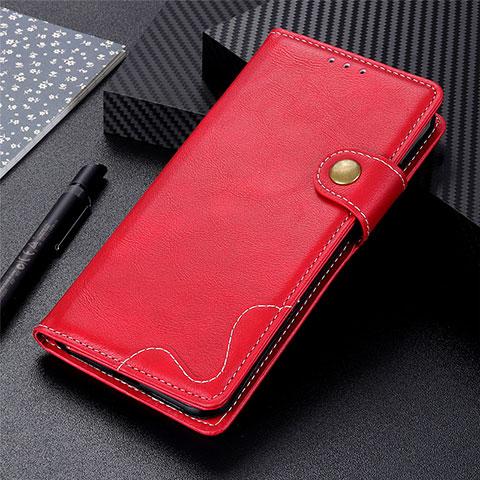 Handytasche Stand Schutzhülle Flip Leder Hülle für Motorola Moto G9 Plus Rot