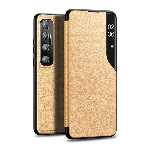Handytasche Stand Schutzhülle Flip Leder Hülle für Xiaomi Mi 10 Ultra Gold