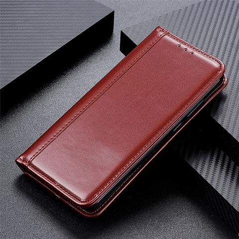 Handytasche Stand Schutzhülle Flip Leder Hülle L01 für Oppo Reno3 A Braun