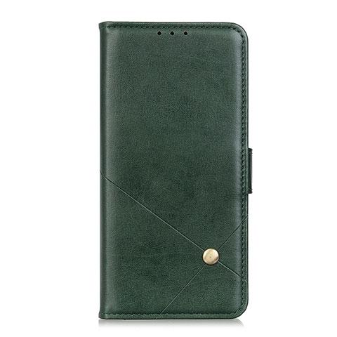 Handytasche Stand Schutzhülle Flip Leder Hülle L02 für Motorola Moto G9 Plus Grün