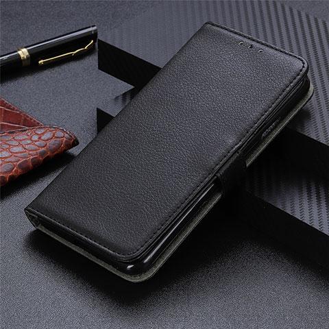 Handytasche Stand Schutzhülle Flip Leder Hülle L03 für Motorola Moto G9 Plus Schwarz