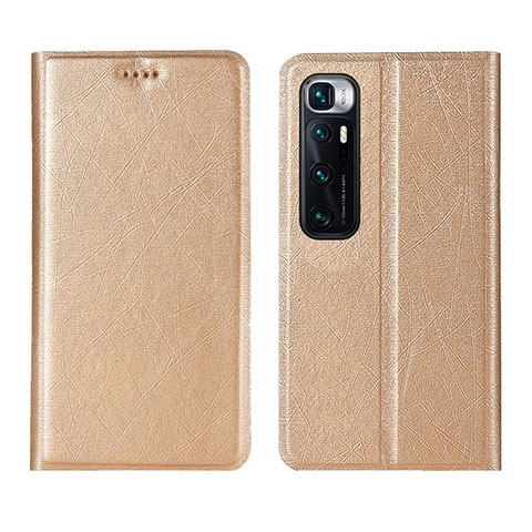 Handytasche Stand Schutzhülle Flip Leder Hülle L03 für Xiaomi Mi 10 Ultra Gold