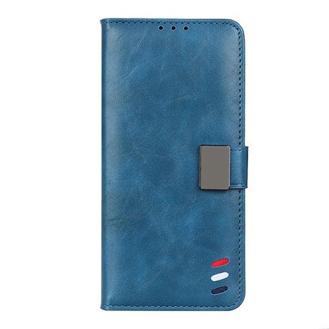 Handytasche Stand Schutzhülle Flip Leder Hülle L04 für Motorola Moto G9 Plus Blau