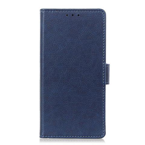 Handytasche Stand Schutzhülle Flip Leder Hülle L04 für Oppo Reno3 A Blau