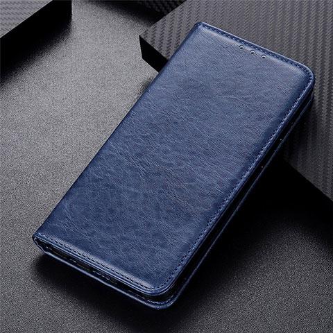 Handytasche Stand Schutzhülle Flip Leder Hülle L05 für Motorola Moto G9 Plus Blau