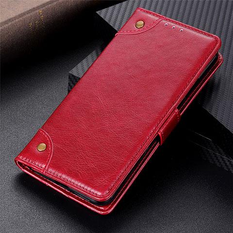 Handytasche Stand Schutzhülle Flip Leder Hülle L06 für Motorola Moto G9 Plus Rot