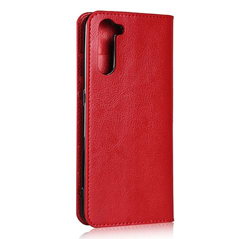 Handytasche Stand Schutzhülle Flip Leder Hülle L07 für Oppo Reno3 A Rot
