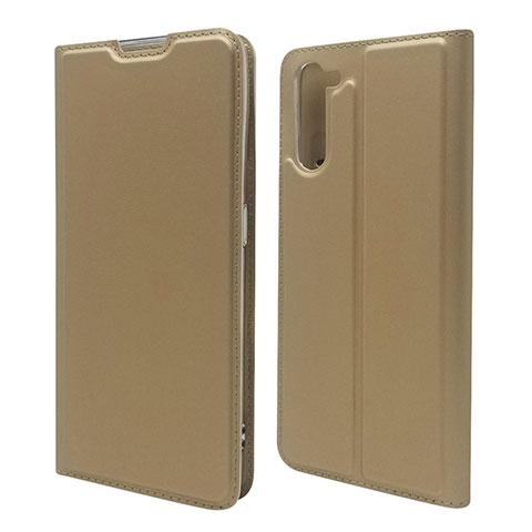 Handytasche Stand Schutzhülle Flip Leder Hülle L09 für Oppo Reno3 A Gold