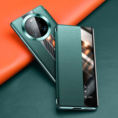 Handytasche Stand Schutzhülle Flip Leder Hülle T04 für Huawei Mate 40 Pro Grün