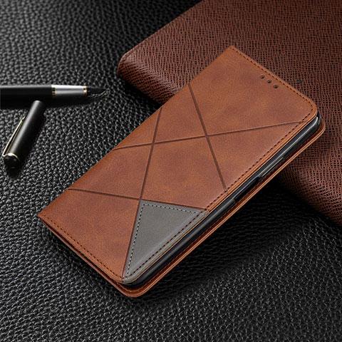 Handytasche Stand Schutzhülle Flip Leder Hülle T08 für Oppo Reno4 Pro 5G Braun