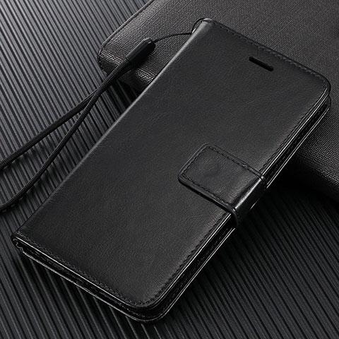 Handytasche Stand Schutzhülle Flip Leder Hülle T09 für Oppo Find X2 Pro Schwarz
