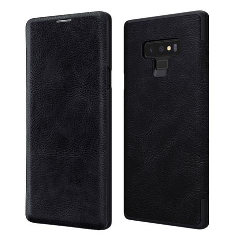 Handytasche Stand Schutzhülle Leder für Samsung Galaxy Note 9 Schwarz