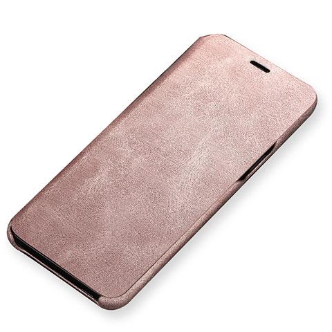 Handytasche Stand Schutzhülle Leder für Samsung Galaxy S9 Gold