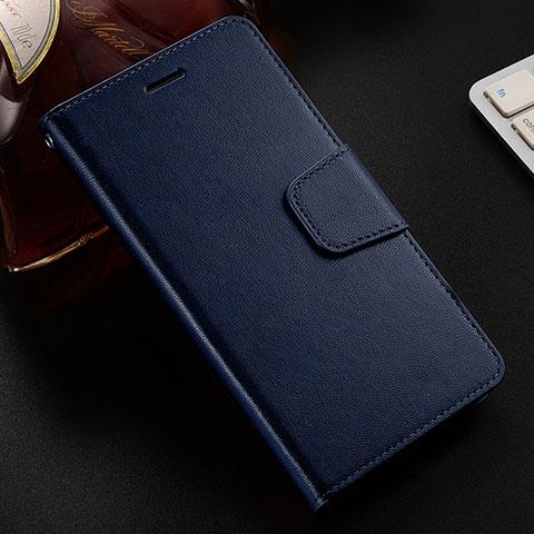 Handytasche Stand Schutzhülle Leder Hülle L03 für Huawei Honor 8X Blau