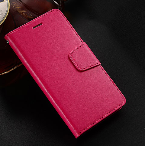 Handytasche Stand Schutzhülle Leder Hülle L03 für Huawei Honor 8X Rot