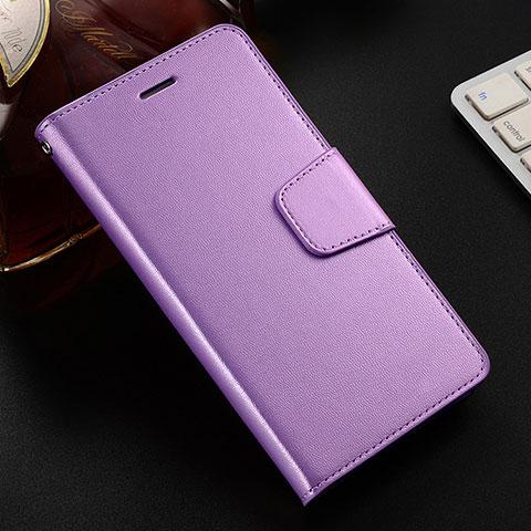 Handytasche Stand Schutzhülle Leder Hülle L03 für Huawei Honor 8X Violett