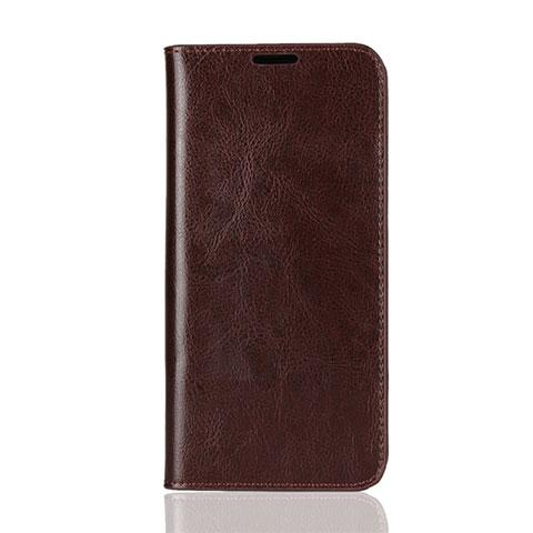 Handytasche Stand Schutzhülle Leder Hülle L08 für Huawei Honor 8X Braun