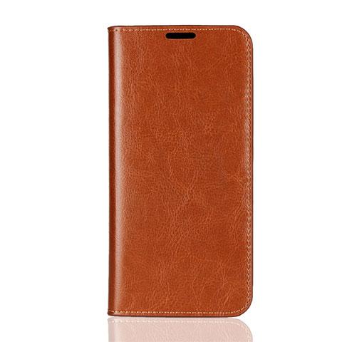 Handytasche Stand Schutzhülle Leder Hülle L08 für Huawei Honor 8X Orange