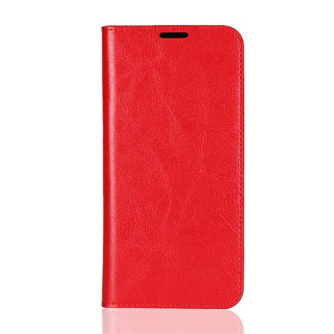 Handytasche Stand Schutzhülle Leder Hülle L08 für Huawei Honor 8X Rot