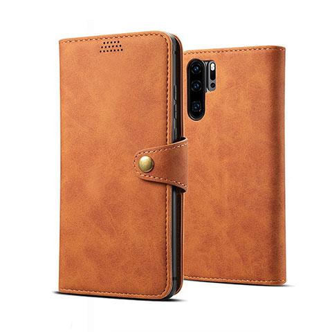 Handytasche Stand Schutzhülle Leder Hülle T09 für Huawei P30 Pro Orange