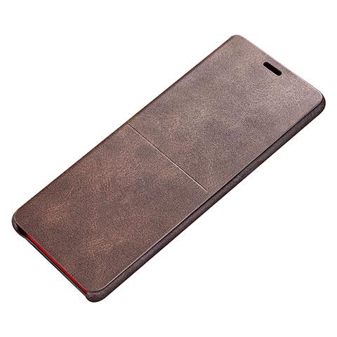 Handytasche Stand Schutzhülle Leder L02 für Samsung Galaxy Note 8 Braun