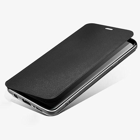 Handytasche Stand Schutzhülle Leder L02 für Samsung Galaxy S9 Schwarz