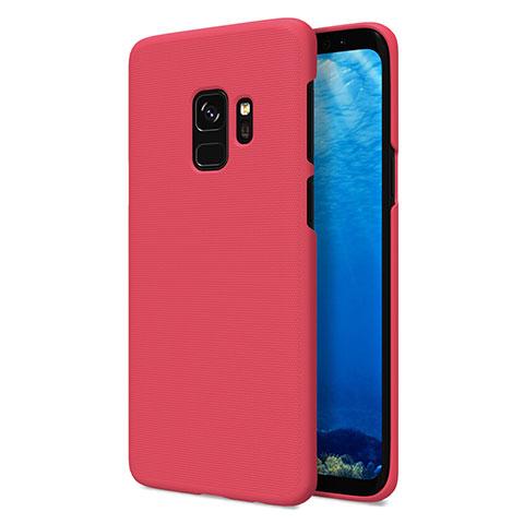 Hülle Kunststoff Schutzhülle Matt M09 für Samsung Galaxy S9 Rot