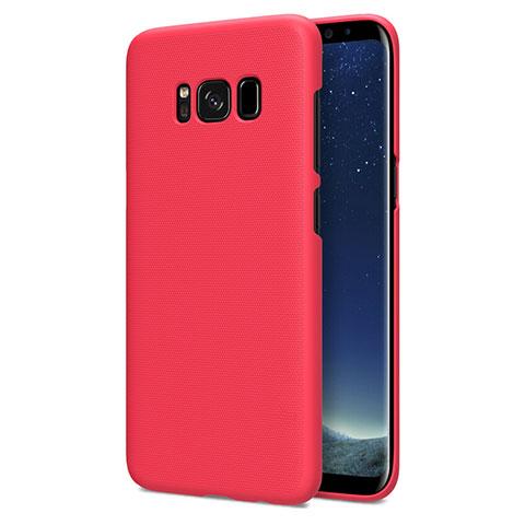 Hülle Kunststoff Schutzhülle Matt P01 für Samsung Galaxy S8 Rot