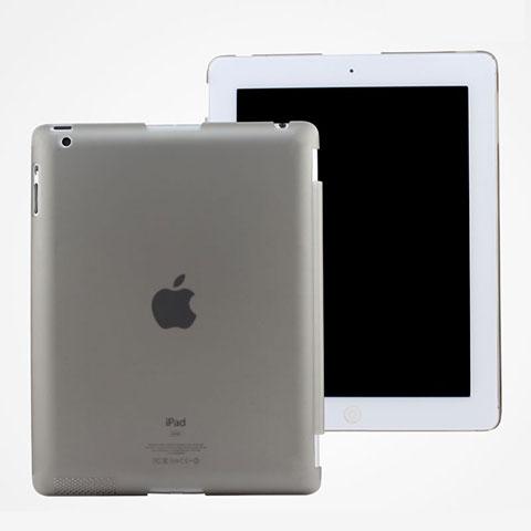 Hülle Ultra Dünn Schutzhülle Durchsichtig Transparent Matt für Apple iPad 4 Grau