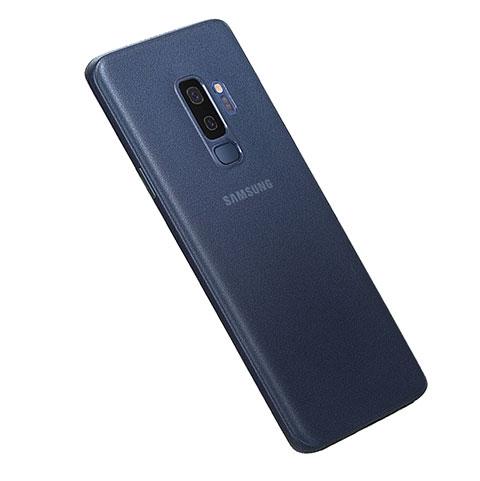 Hülle Ultra Dünn Schutzhülle Tasche Durchsichtig Transparent Matt für Samsung Galaxy S9 Plus Blau