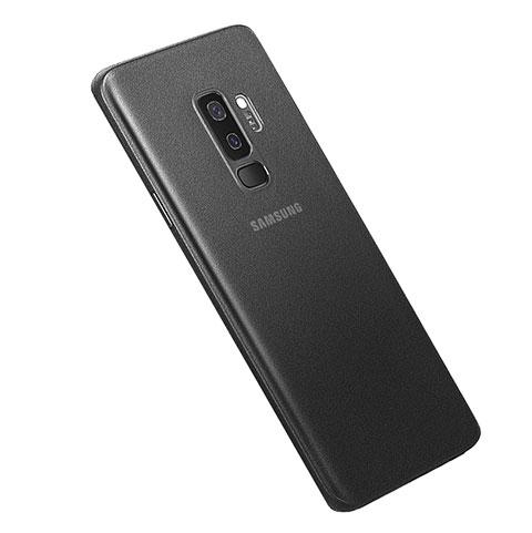 Hülle Ultra Dünn Schutzhülle Tasche Durchsichtig Transparent Matt für Samsung Galaxy S9 Plus Schwarz
