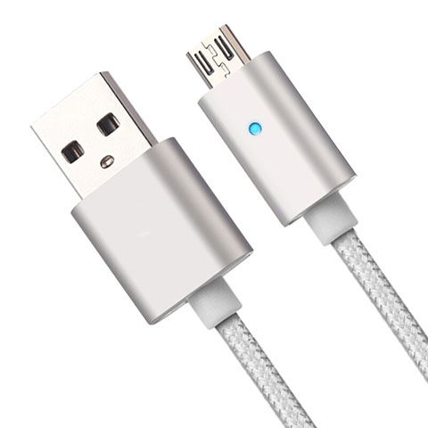 Kabel USB 2.0 Android Universal A08 Silber
