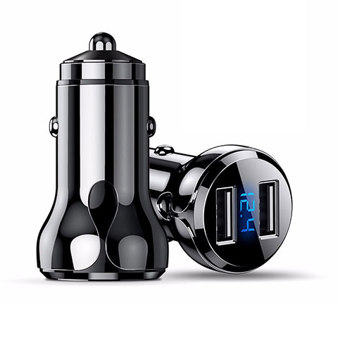 Kfz-Ladegerät Adapter 4.8A Dual USB Zweifach Stecker Fast Charge Universal K09 Schwarz