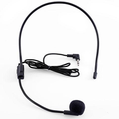 Mini-Stereo-Mikrofon Mic 3.5 mm Klinkenbuchse K03 Schwarz