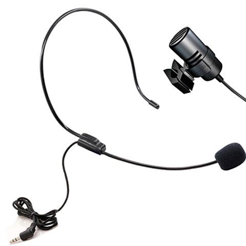 Mini-Stereo-Mikrofon Mic 3.5 mm Klinkenbuchse M11 Schwarz