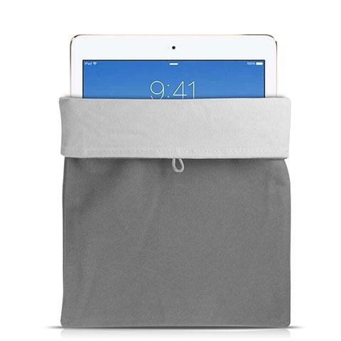 Samt Handy Tasche Schutz Hülle für Huawei MatePad 10.4 Grau