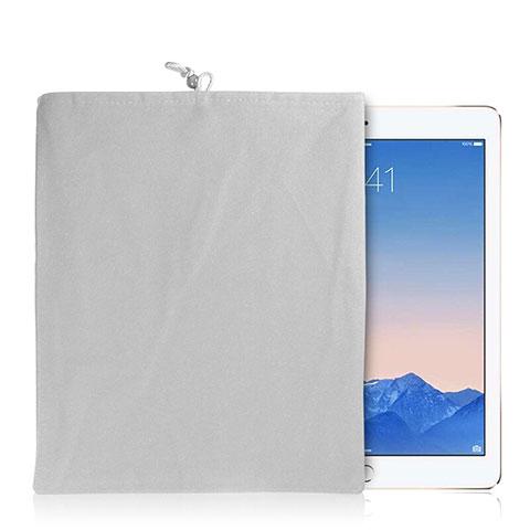 Samt Handy Tasche Schutz Hülle für Huawei MatePad 10.4 Weiß