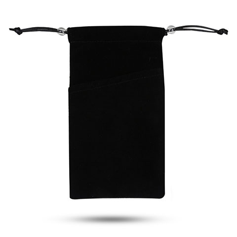 Samtbeutel Säckchen Samt Handy Tasche Universal Schwarz