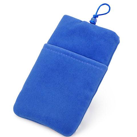 Schmuckbeutel Schwarz Samtbeutel Säckchen Universal Blau