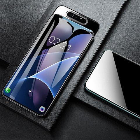 Schutzfolie Displayschutzfolie Panzerfolie Gehärtetes Glas Glasfolie Skins zum Aufkleben Panzerglas T01 für Samsung Galaxy A80 Klar